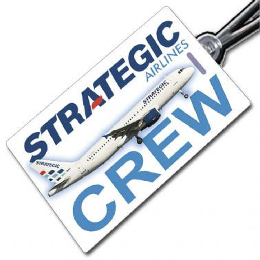 Strategic Airlines A320 Crew Tag